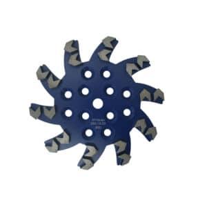 Diamant-Schleifteller Stern mit Pfeilsegmenten