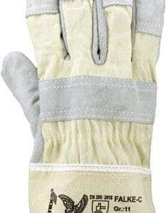 Rindspaltleder-Handschuh – Farbe: naturfarben