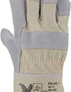 Rindspaltleder-Handschuh, Farbe: naturfarben