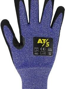 Schnittschutz-Handschuh – Farbe: blau/schwarz