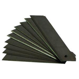 Ersatzklingen / Abbrechklingen 18mm x 0,5 mm, Carbonstahl schwarz